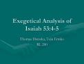 Exegetical Analysis of Isaiah 53:4-5