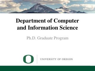 Department of Computer and Information Science