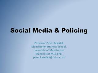 Social Media & Policing