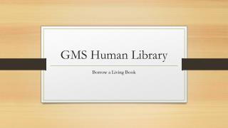 GMS Human Library