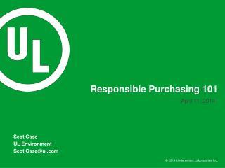 Responsible Purchasing 101