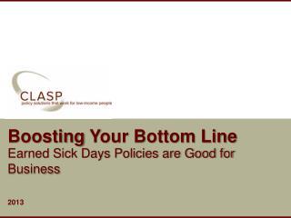 Boosting  Y our Bottom Line