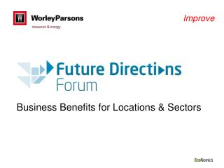 Business Benefits for Locations & Sectors