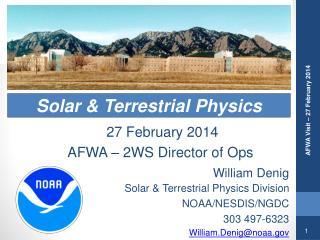 Solar & Terrestrial Physics