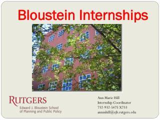 Bloustein  Internships