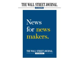 English- language daily newspaper based  in Bruxelles European edition  of the US Wall Street Journal Circulates  in t