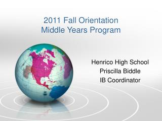 Henrico  High School Priscilla Biddle IB Coordinator