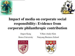 Impact of media on corporate social responsibility: E vidence  from corporate philanthropic contribution