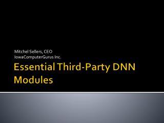 Essential Third-Party DNN Modules