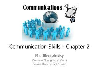Communication Skills - Chapter 2