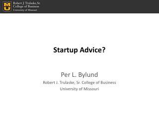 Startup Advice?