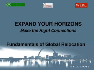 EXPAND YOUR HORIZONS Make the Right Connections Fundamentals of Global Relocation
