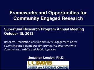 Jonathan  London, Ph.D.