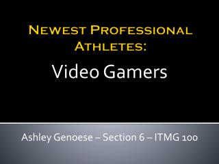 Newest Professional Athletes: