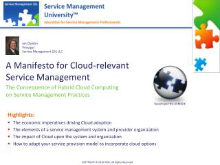 A Manifesto for Cloud-relevant Service Management