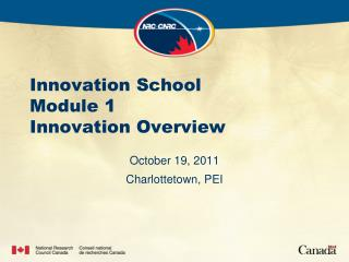 Innovation School Module 1 Innovation Overview
