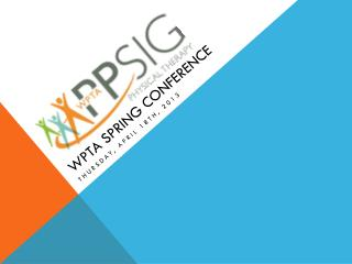 WPTA Spring Conference