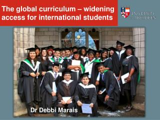 The global curriculum – widening access for international students