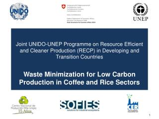 Joint  UNIDO-UNEP  Programme  on Resource Efficient and Cleaner Production (RECP) in Developing and Transition Countrie