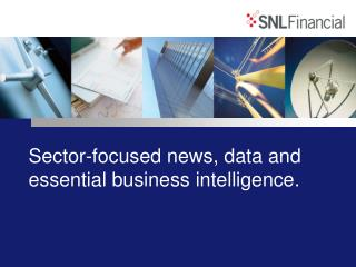 Sector-focused news, data and essential business intelligence.