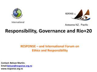 Responsibility, Governance and Rio+20