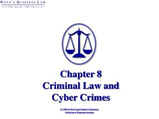 Chapter 8 Criminal Law and Cyber Crimes