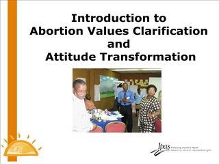 Introduction to Abortion Values Clarification and Attitude ...