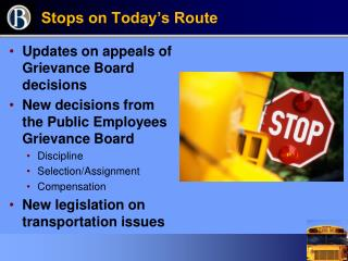 Stops on Today