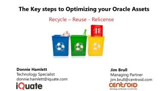 The Key steps to Optimizing your Oracle Assets