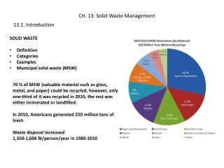 CH. 13. Solid-Waste Management