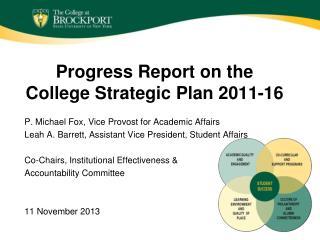 Progress Report on the College Strategic Plan 2011-16