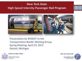 New York State  High Speed Intercity Passenger Rail Program