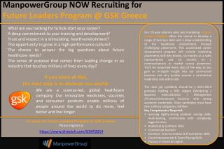 To apply for Future Leaders Program @ GSK Greece: Please  register at https :// www . directch . com / GSKfl 2014