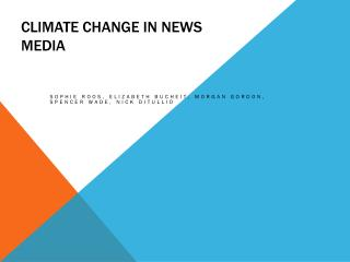 Climate change in news media