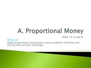 A. Proportional Money