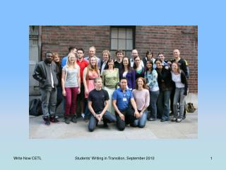 Supporting Students� Transition to University Writing