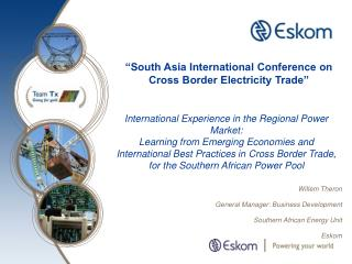 Willem Theron General Manager: Business Development Southern African Energy Unit Eskom