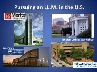 Pursuing an LL.M. in the U.S.