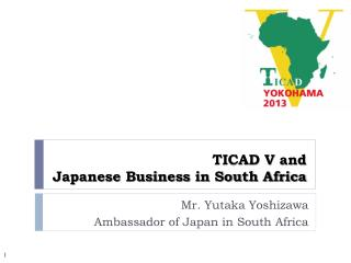 TICAD V and  Japanese Business in South Africa