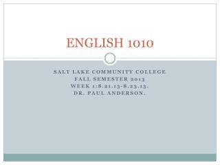 ENGLISH 1010