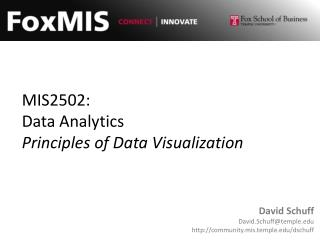 MIS2502: Data Analytics Principles of Data Visualization