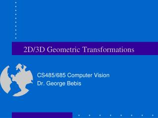 2D3D Geometric Transformations