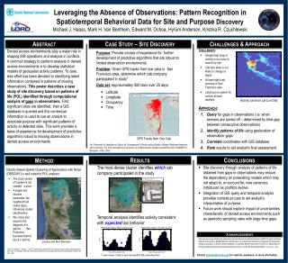 Leveraging the Absence of  Observations: Pattern  Recognition in                   Spatiotemporal  Behavioral Data for