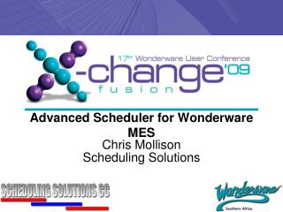 Advanced Scheduler for  Wonderware  MES