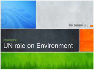 introducing UN role on Environment