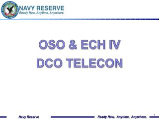 Oso & Ech IV  DCO TELECON