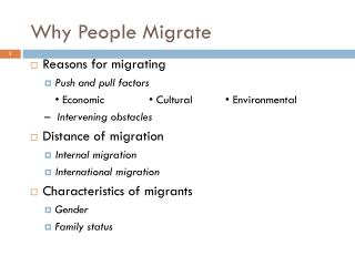 Why People Migrate