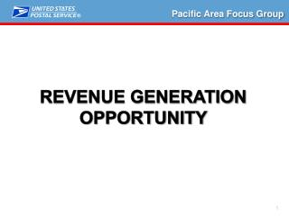Revenue Generation Opportunity