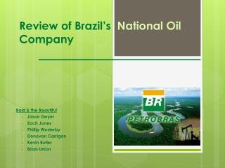 Review of Brazil's   National Oil  Company