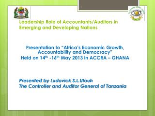 Leadership Role of Accountants/Auditors in Emerging and Developing Nations